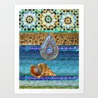 Art Print featuring Ibiza Boho by Joke Vermeer