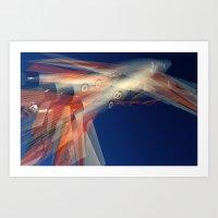 Freccia tricolore Art Print