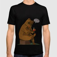 Mrs. Bear Mens Fitted Tee Black SMALL