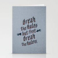 Break The Rules (variant… Stationery Cards