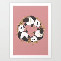 Panda dreams Art Print