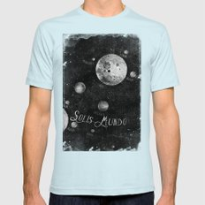 Solis Mundo I Mens Fitted Tee Light Blue SMALL