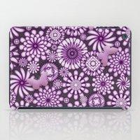 Ceramic Flowers & Butterflies (Acai) iPad Case