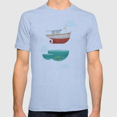 Floating Boat Mens Fitted Tee Athletic Blue SMALL