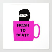 Caffeine Ninja - Fresh T… Canvas Print
