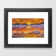 Orange Twilight Framed Art Print