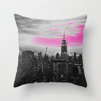 PINK New York Throw Pillow