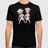 Silent Plushies  Mens Fitted Tee Black SMALL