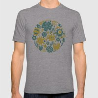 Little Flower Circle Mens Fitted Tee Athletic Grey SMALL