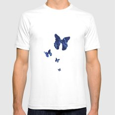 Butterfly SMALL White Mens Fitted Tee