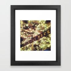 The Neck Framed Art Print