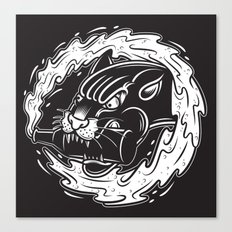 Beer Panther Canvas Print