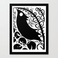 Doodlebird Print Canvas Print