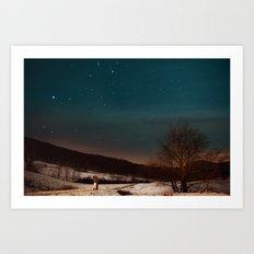 Kissing Under the Stars Art Print