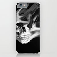 iPhone & iPod Case featuring Smokin Skull by NKlein Design
