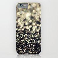 Black and Silver Glitter iPhone 6 Slim Case