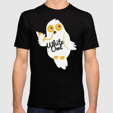 White Owl Mens Fitted Tee Black SMALL