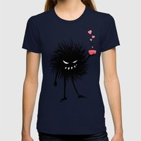 Evil Bug Made A Love Potion For You Womens Fitted Tee Navy SMALL