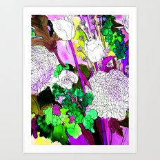 forest flowers 2 Art Print
