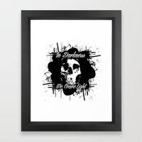 In Darkness, We Crave Li… Framed Art Print