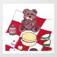 Teddy Bear's Picnic Art Print