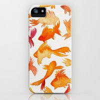 iPhone Cases featuring Goldfish by Cat Coquillette