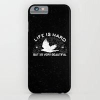 iPhone Cases featuring Life is hard but so very beautiful by barmalisiRTB