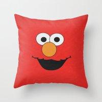 Elmo - Minimalist Poster… Throw Pillow