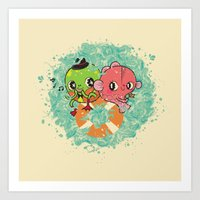The Pond Lovers - Mr. Fr… Art Print