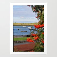 In the Harbor  Art Print