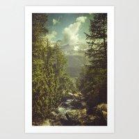 Mountain View - Italian … Art Print
