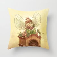 Goblins Drool, Fairies R… Throw Pillow