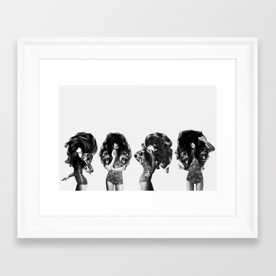 Lions And Bears Party Framed Art Print