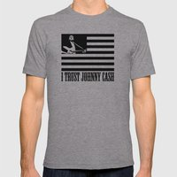 I Trust Johnny Cash Mens Fitted Tee Athletic Grey SMALL