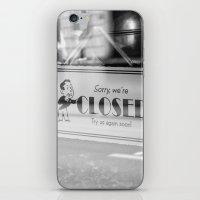 Closed - Belgium Cafe Photography iPhone & iPod Skin