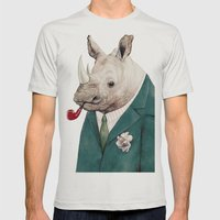 Rhinoceros Mens Fitted Tee Silver SMALL