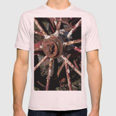 Rusted Wheel Mens Fitted Tee Light Pink SMALL
