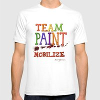 TEAM PAINT MOBILIZE Mens Fitted Tee White SMALL