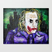 Gotham is Mine - Heath Ledger as The Joker Canvas Print