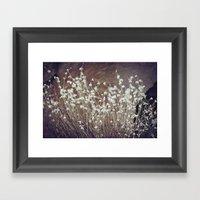 Rock Flowers Framed Art Print