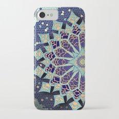Mosaic Mandala in Blue Slim Case iPhone 7