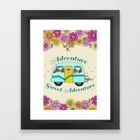 Camper Love Framed Art Print