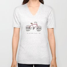 the most badass bicycle ever Unisex V-Neck