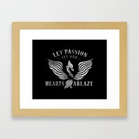 Let Passion Set Our Hearts Ablaze Framed Art Print