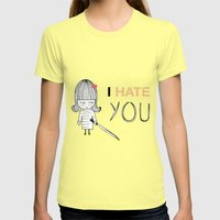I Hate You / Kill Bill Womens Fitted Tee Lemon SMALL