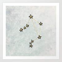Libra x Astrology x Zodiac Art Print