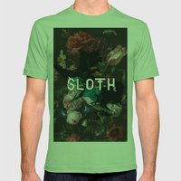 Sloth Mens Fitted Tee Grass SMALL