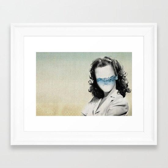 the glass half full Framed Art Print