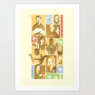 Art Print featuring Parks & Rec by Florey