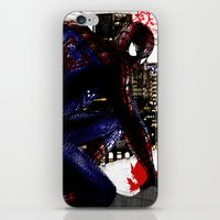 Spiderman In London Clos… iPhone & iPod Skin